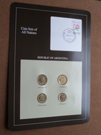 REPUBLIC OF ARGENTINA ( From The Serie Coin Sets Of All Nations ) Card 20,5 X 29,5 Cm. ) + Stamp '88 ! - Argentine