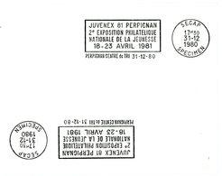 PYRENEES ORIENTALES PERPIGNAN CENTRE DE TRI 1980 ESSAI DE MISE EN PLACE MACHINE SECAP - Marcophilie (Lettres)