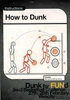 24G : Sports Basketball Cartoon Basic Steps Action Advertisement Card - Basketball