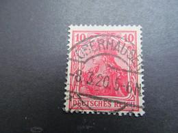 DR Nr.  86IIc, 1915, Germania, Gestempelt, BPP Geprüft, BS - Used Stamps