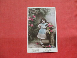Young Girl With Flower Basket  Ref 3221 - Other