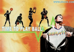 24G : Sports Basketball Action Advertisement Card - Basketball