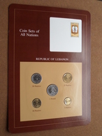REPUBLIC OF LEBANON ( From The Serie Coin Sets Of All Nations ) Card 20,5 X 29,5 Cm. ) NO Stamp ! - Libanon