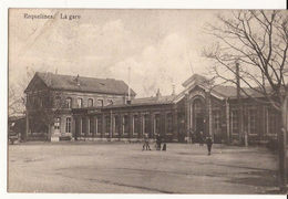 ERQUELINES LA GARE  ECRITE Feldpost  5-9-1914 Sans Cachet Allemande Edit Lecocq  1242/d1 - Erquelinnes
