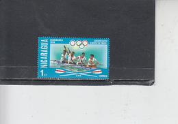 NICARAGUA  1976 - Yvert  1051 - Sport - Canottaggio - Canottaggio