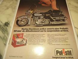 ANCIENNE PUBLICITE HARLEY DAVIDSON JOUET POLISTIL 1980 - Advertising
