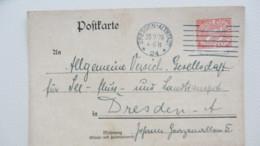 DR: Dienstpost-Karte Mit 30 Pf, MStrichSt. Dresden Vom 20.9.20. Verkehrsbureu Sächsische Staatseisensbahnen Knr: D 20 - Deutschland