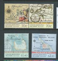 Cocos Keeling Island 2014 Maps Set Of 4 MNH - Cocos (Keeling) Islands