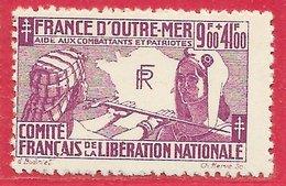 France Libre N°5 9F+41F Lilas 1943 ** - Guerres