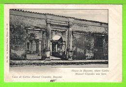 BAYAMO - CASA DE CARLOS MANUEL CESPEDES - Tarjeta Escrita En 1903 -  Fotos Anverso Y Reverso - Cuba