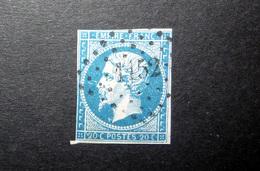 FRANCE 1854 N°14I OBL. LOSANGE PC 1152 (NAPOLÉON III. SECOND EMPIRE. 20C BLEU. LÉGENDE EMPIRE FRANC. NON DENTELÉ. TYPE I - 1853-1860 Napoleon III