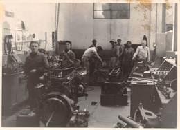 """07725 """"ADDIS ABEBA 1955 I. H. A.- OFFICINA RIPARAZIONE MOTORI"""" ANIMATA, FOTO ORIG.. - Mestieri"""