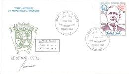 TAAF FDC 10ème Anniversaire Général De Gaulle (base ALFRED FAURE) N° YT PA 61 1980 O - FDC