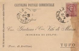 Pignola. 1900. Annullo Grande Cerchio PIGNOLA,  Su Cartolina Postale Commerciale - 1878-00 Humberto I