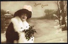 FEMME - Jeune Femme Avec Bouquet De Gui - Circulé Sous Enveloppe - Circulated Under Cover - Gelaufen U. Umschlag. - Femmes