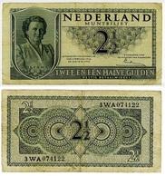OLANDA-PAESI BASSI- NEDERLAND MUNTBILJET 2 ½ GULDEN- 1949- B (12/25/F) - [2] 1815-… : Royaume Des Pays-Bas
