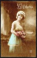 FEMME - Jeune Femme Avec Bouquet De Rose - Circulé Sous Enveloppe - Circulated Under Cover - Gelaufen U. Umschlag. - Femmes