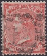 England  .   SG   80  Pl.  3  ( 2 Scans ) .  Wmk  Large Carter   .  O   .    Cancelled .   /   .   Gebruikt - 1840-1901 (Victoria)