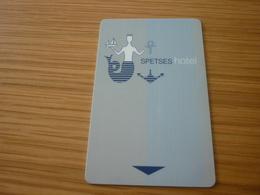 Greece Spetses Hotel Room Key Card (sirene Mermaid) - Cartes D'hotel