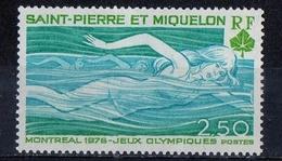Saint Pierre And Miquelon 1976 - Nuoto Swimming MNH ** - Nuovi