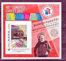 France BF 12 FFAP 90 ème Congrès De Cholet 2017 Neufs ** LUXE MNH Sin Charnela - FFAP
