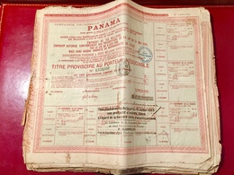 Cie  Universelle  Du  Canal  Interocéanique  De PANAMA -----   Titre  Provisoire - Navigation
