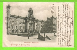 SANTIAGO DE COMPOSTELA - UNIVERSITA ECLESIASTICA - Tarjeta Escrite En 1903 - Santiago De Compostela