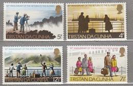 TRISTAN Da CHUNA 1973 Return To The Island MNH(**) Mi 185-188 #23948 - Tristan Da Cunha