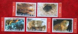 Mineralen Minerals Mineralien OBC N° 3174-3178 (Mi 3227-3231) 2003 POSTFRIS MNH ** BELGIE BELGIEN / BELGIUM - Belgien
