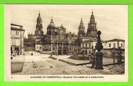 SANTIAGO DE COMPOSTELA - CATEDRAL - FACHADA DE LA AZABACHERIA - Tarjeta Virgen - Santiago De Compostela
