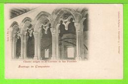 SANTIAGO DE COMPOSTELA - CLAUSTRO ANTIGUO EN EL CONVENTO DE SAN FRANCISCO - Tarjeta Virgen - Santiago De Compostela
