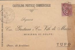 Montemesola. 1900. Annullo Grande Cerchio MONTEMESOLA (LECCE),  Su Cartolina Postale Commerciale - 1878-00 Humberto I