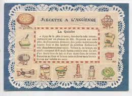 Recette à L'ancienne : La Quiche - Louise Deletang Illustrateur (cp Vierge N°2 Cartes D'art) - Recipes (cooking)