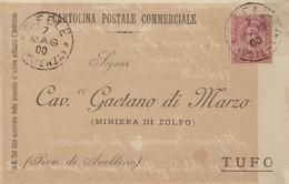 San Fele. 1900. Annullo Grande Cerchio S. FELE (POTENZA),  Su Cartolina Postale Commerciale - Marcofilie