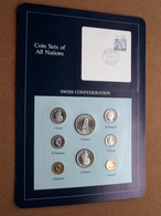 SWISS CONFEDERATION ( From The Serie Coin Sets Of All Nations ) Card 20,5 X 29,5 Cm. ) + Stamp '83 ! - Suisse