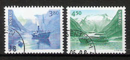 Norway 1998 Norden: Seafaring, Ferries, Ships Mi 1280-1281 Cancelled(o) - Oblitérés