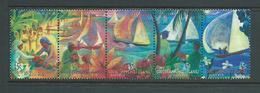 Cocos Keeling Island 1999 Jukong Boats Hari Raya Festival Strip Of 5 MNH - Cocos (Keeling) Islands