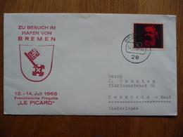 (us) Schiffpost Shipmail FRANZÖSISCHE FREGATTE LE PICARD JULI 1968 DEUTSCHE BUNDESPOST. - Boten