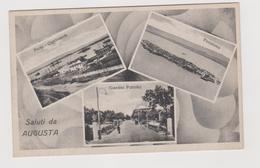 AUGUSTA (SR)  Saluti Da... Con Tre Vedute  - F.p. - Anni '1930 - Siracusa