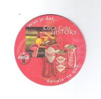 Bierviltje - Sous-bock - Bierdeckel  COCA - COLA  - HISTORY  (B 110) - Sotto-boccale