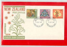 NUOVA ZELANDA - NEW ZEALAND - FDC 1974  -  CHRISTMAS - FDC