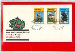 NUOVA ZELANDA - NEW ZEALAND - FDC 1979  -  CHRISTMAS - FDC