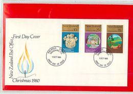 NUOVA ZELANDA - NEW ZEALAND - FDC 1980  -  CHRISTMAS - FDC