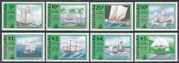 Grenada 1991 Geschichte History Entdeckungen Discovery Amerika Kolumbus Columbus Schiffe Ship Darwin Cook, Mi. 2235-2 ** - Grenade (1974-...)