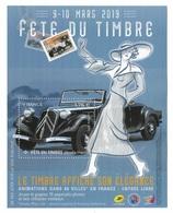 Flyer Pub Fête Du Timbre 9-10 Mars (2019) - Documentos Del Correo