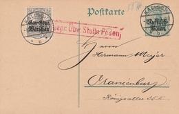 Occupation Allemande En Pologne Entier Postal 1916 - Occupation 1914-18