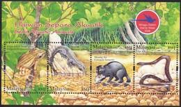 Malaysia 2006 S#1114 Semi Aquatic Animals M/S MNH Fauna Reptile Frog Lizard Otter Civet Snake Stamp Week - Malaysia (1964-...)