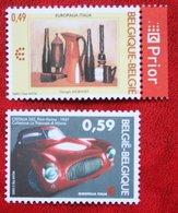 Europalia Italie Car Voiture Italie Belgie OBC N° 3205-3206 (Mi 3254-3255) 2003 POSTFRIS MNH ** BELGIE BELGIEN / BELGIUM - Belgien