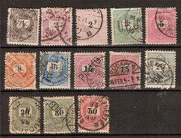 (Fb).Ungheria.1888/98.Cifre Nere.15 Val Usati.Alcuni Perfin (22-19) - Ungheria