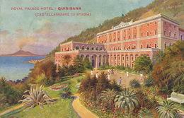 Castellamare Di Stabia Royal Palace Hotel Quisinana  Edit Richter Art Card  Tennis Court Vesuve - Castellammare Di Stabia